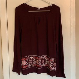 Old Navy long sleeve tunic size M